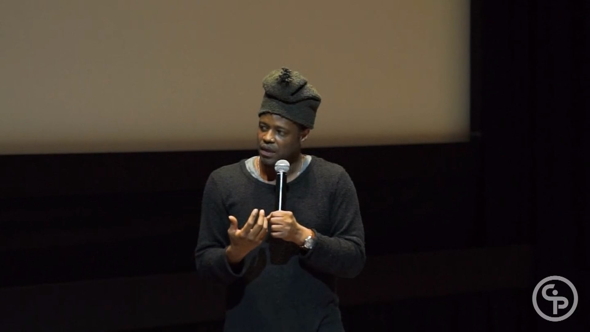 Still from Q&A with Charles Officer, director of UNARMED VERSES