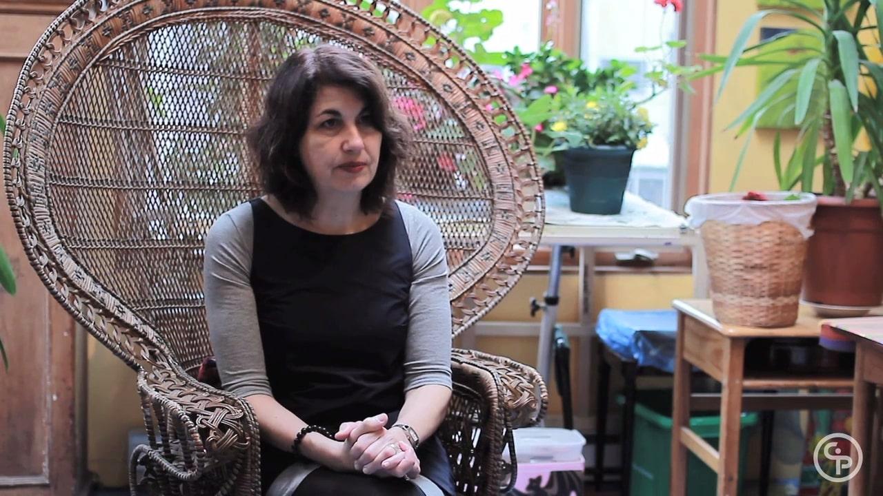 Still from Artist Talk with Maya Gallus