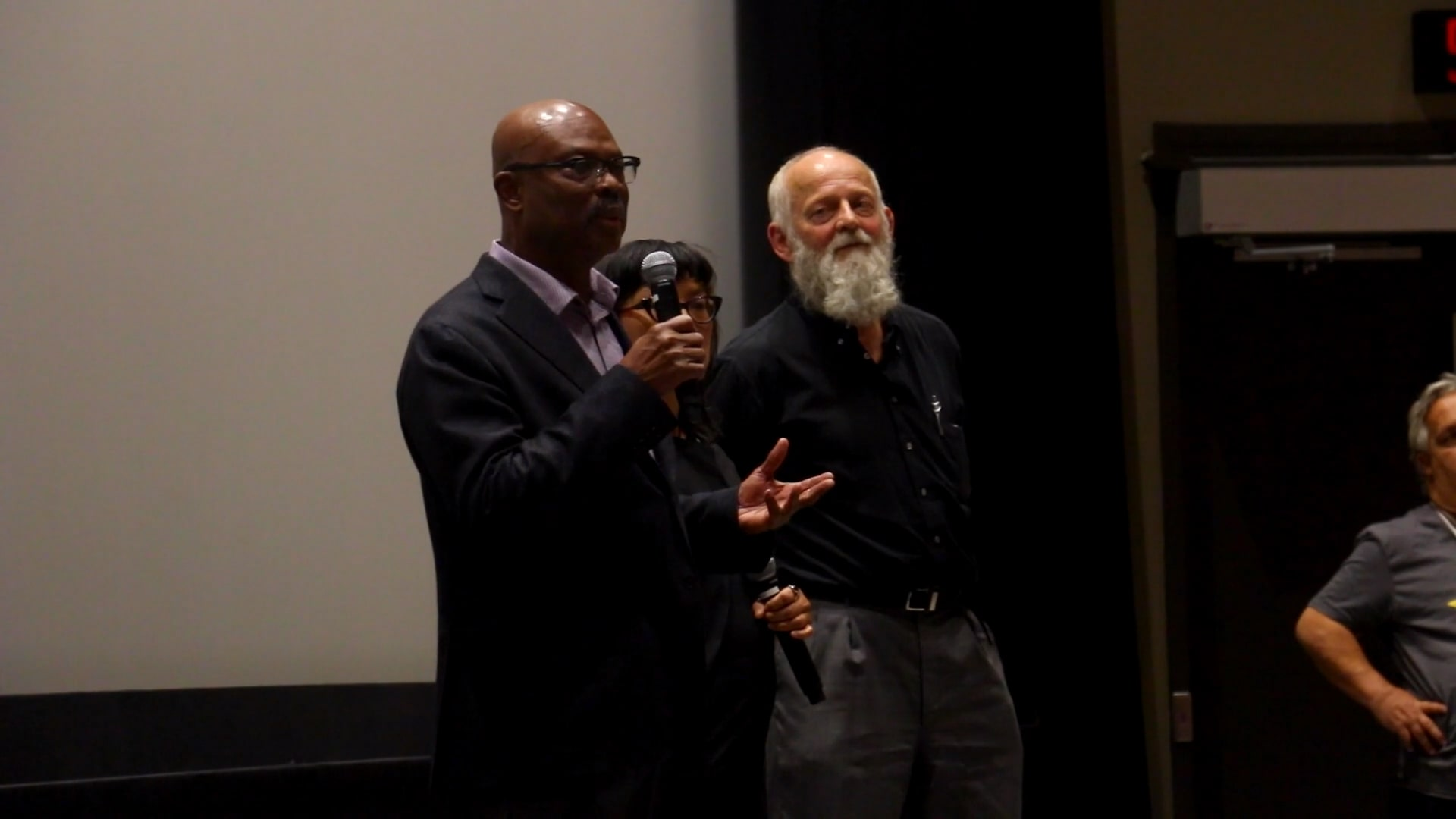 Still from Q&A with writer & director Mina Shum and producer Selwyn Jacob - NINTH FLOOR